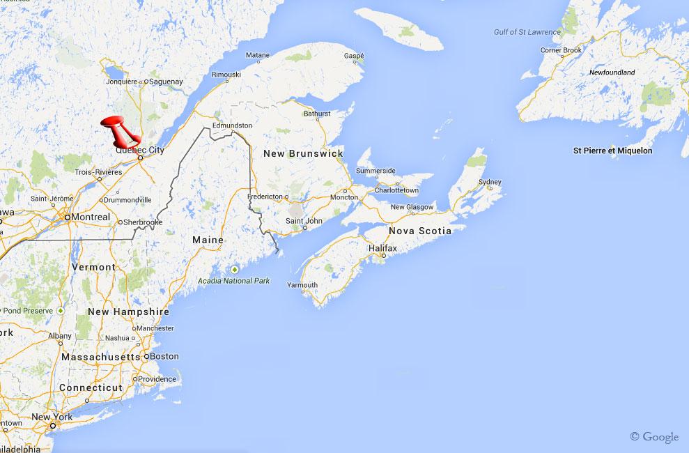 Map Quebec Canada