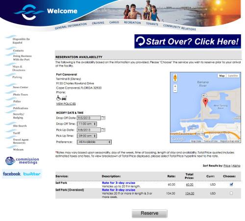 Port Canaveral Parking Choose Service