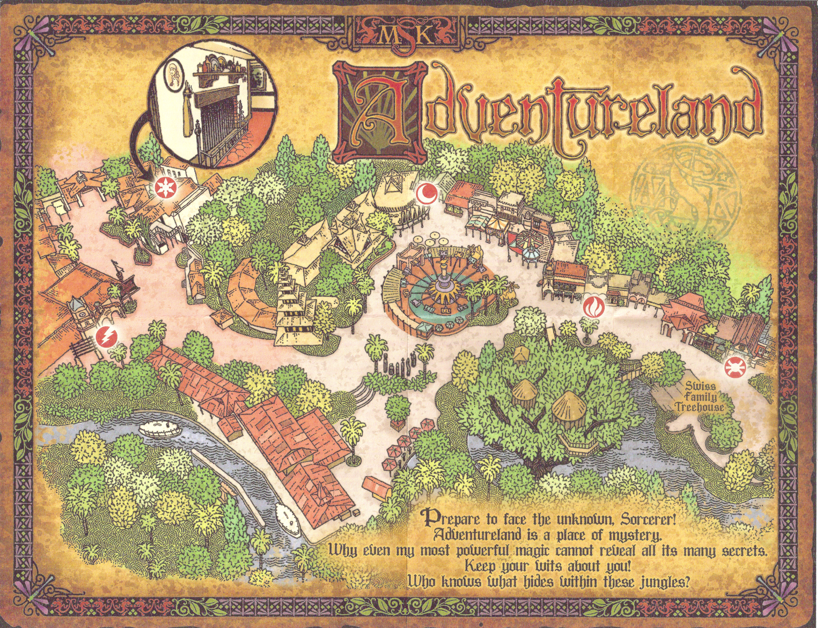 Magic Kingdom Map With New Fantasyland of The Magic Kingdom Map