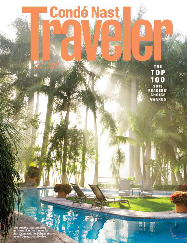 Conde Nast Traveler 2013 Readers Choice Magazine Cover