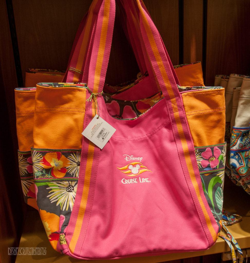 Disney Cruise Line Vera Bradley Orange Floral Tote