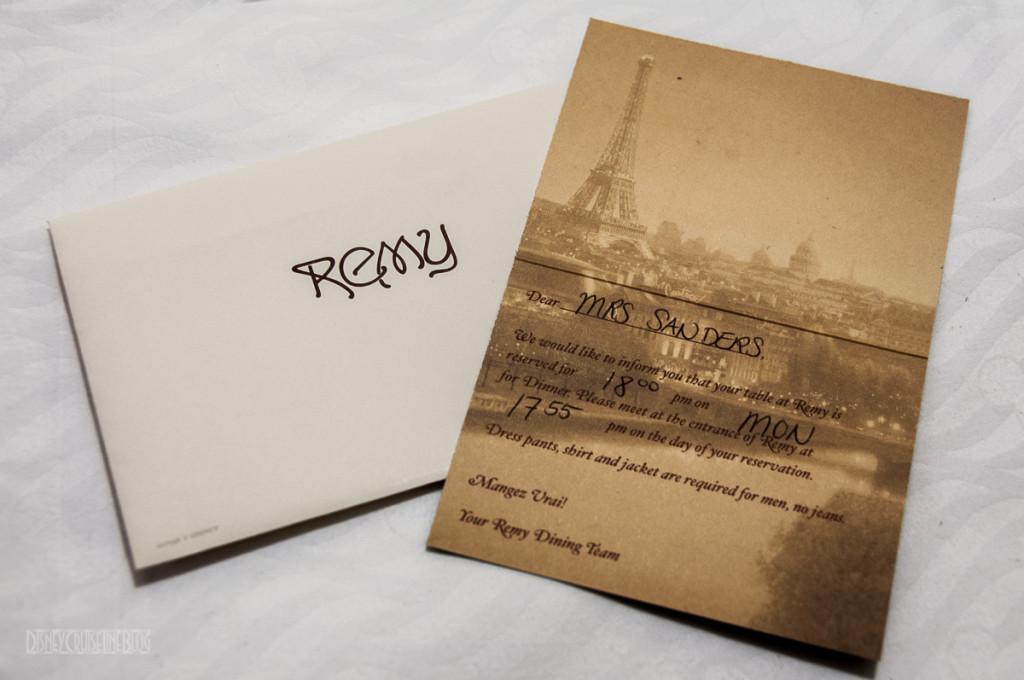 Remy Dinner Invitation