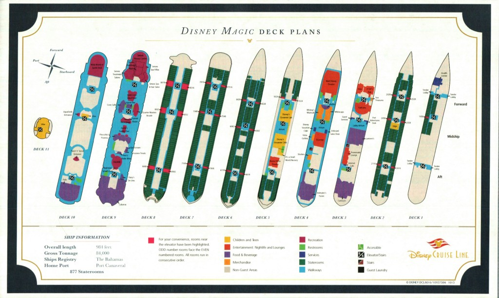 Disney Magic Deck Plan Handout
