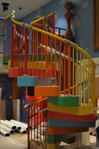 Disney Magic Dry Dock Cadiz DCL Andy's Room Stairs