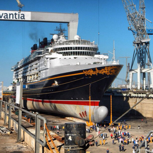 Disney Magic Dry Dock Cadiz DCL Paint Bow ALIVE