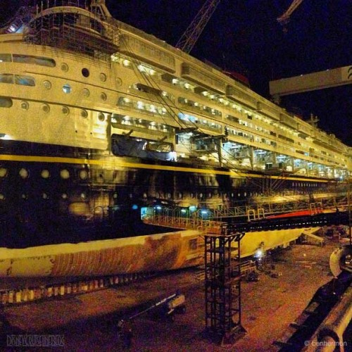Disney Magic Dry Dock Cadiz Fresh Paint Stern