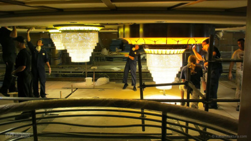 Disney Magic Dry Dock Cadiz KUB Atrium Chandelier