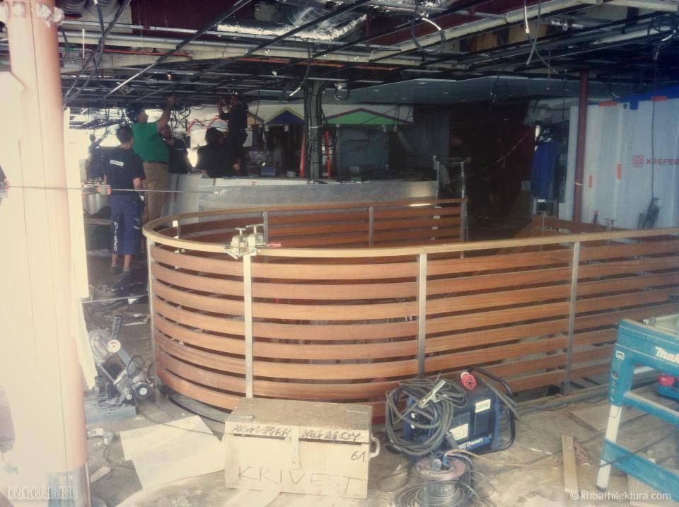 Disney Magic Dry Dock Cadiz KUB Cabanas Aft Stairs 2