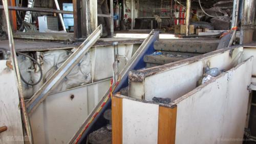 Disney Magic Dry Dock Cadiz KUB Cabanas Aft Stairs Demo 2
