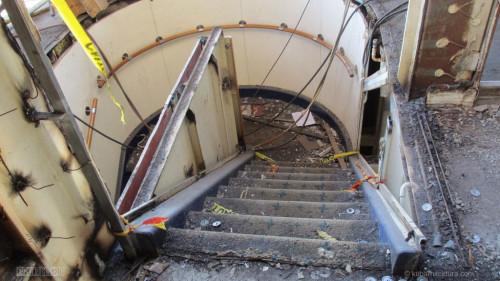 Disney Magic Dry Dock Cadiz KUB Cabanas Aft Stairs Demo