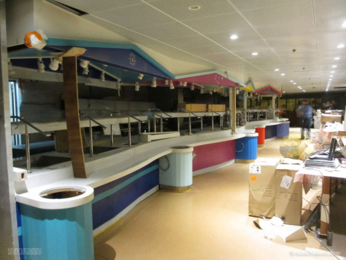 Disney Magic Dry Dock Cadiz KUB Cabanas Freestyle Buffet Closeup