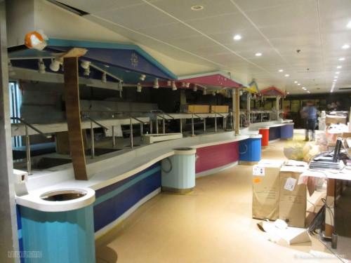 Disney Magic Dry Dock Cadiz KUB Cabanas Freestyle Buffet Closeup