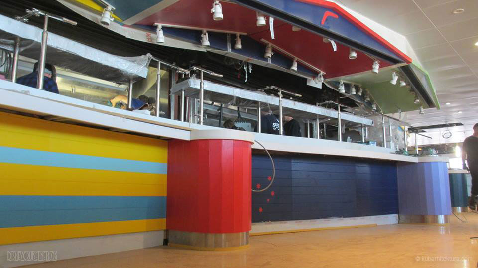 Disney Magic Dry Dock Cadiz KUB Cabanas Freestyle Buffet Window