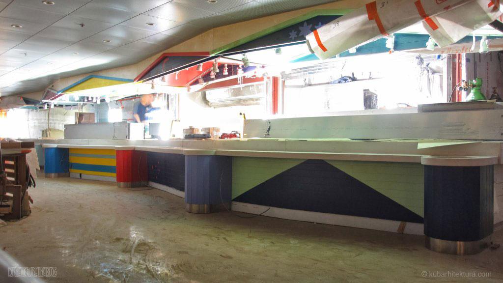 Disney Magic Dry Dock Cadiz KUB Cabanas Freestyle Buffet