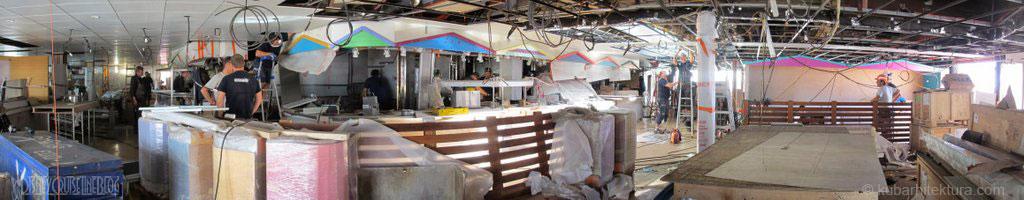Disney Magic Dry Dock Cadiz KUB Cabanas Panoramic