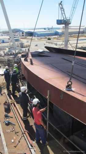 Disney Magic Dry Dock Cadiz KUB Cabanas Roof Install