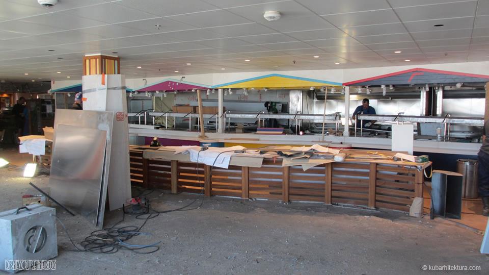 Disney Magic Dry Dock Cadiz KUB Cariocas Buffet Seating