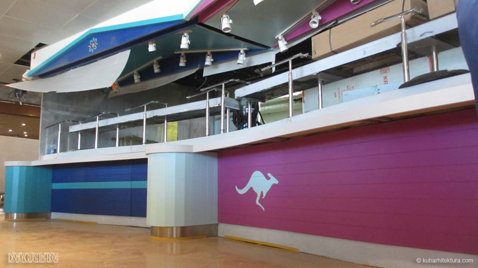 Disney Magic Dry Dock Cadiz KUB Cariocas Buffet Window Kangaroo