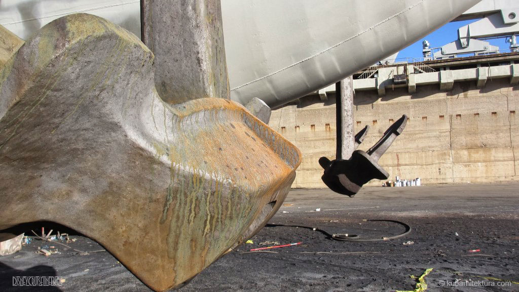 Disney Magic Dry Dock Cadiz KUB Paint Bow Anchors