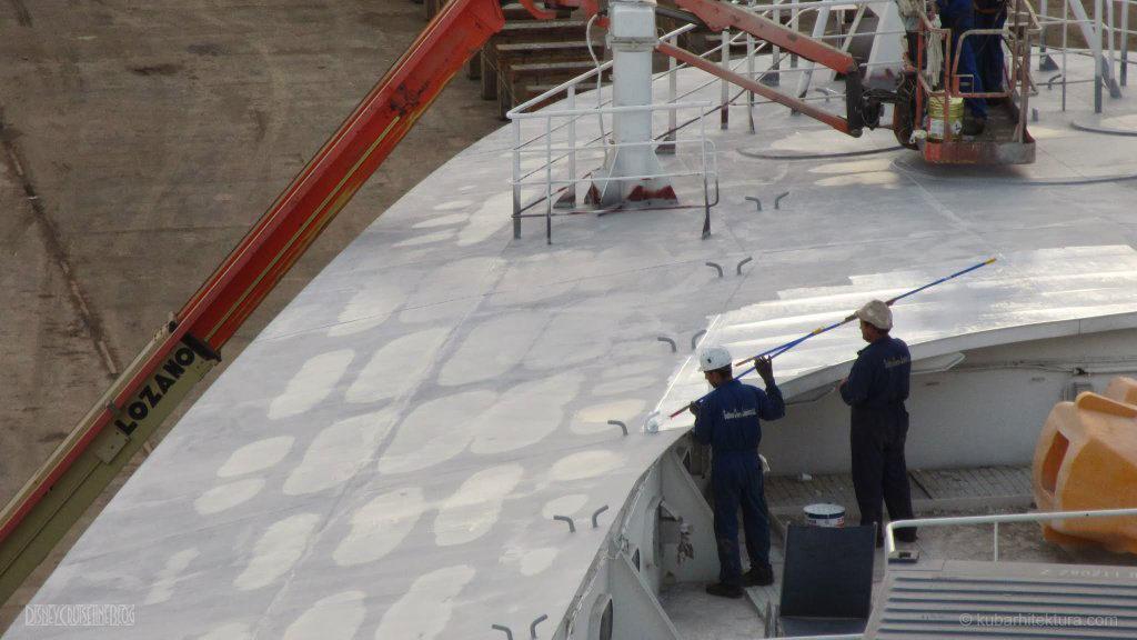 Disney Magic Dry Dock Cadiz KUB Paint Bow Crew Pool Deck