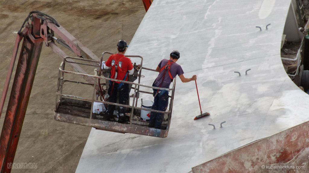 Disney Magic Dry Dock Cadiz KUB Paint Bow Crew Pool Deck Alt