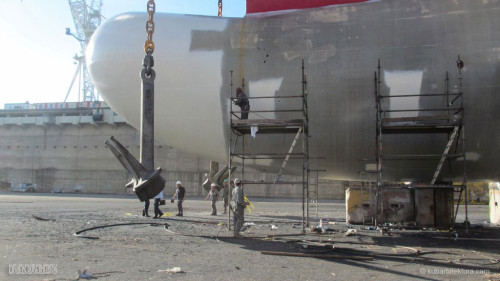 Disney Magic Dry Dock Cadiz KUB Paint Bulbous Bow