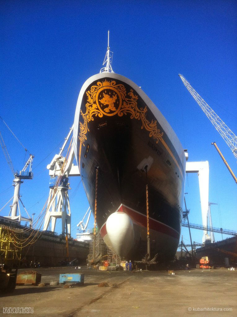 Disney Magic Dry Dock Cadiz KUB Paint Bulbous Bow Anchors