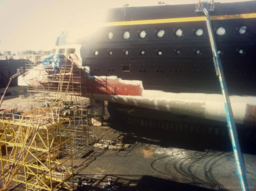 Disney Magic Dry Dock Cadiz KUB Paint Ducktail Starboard