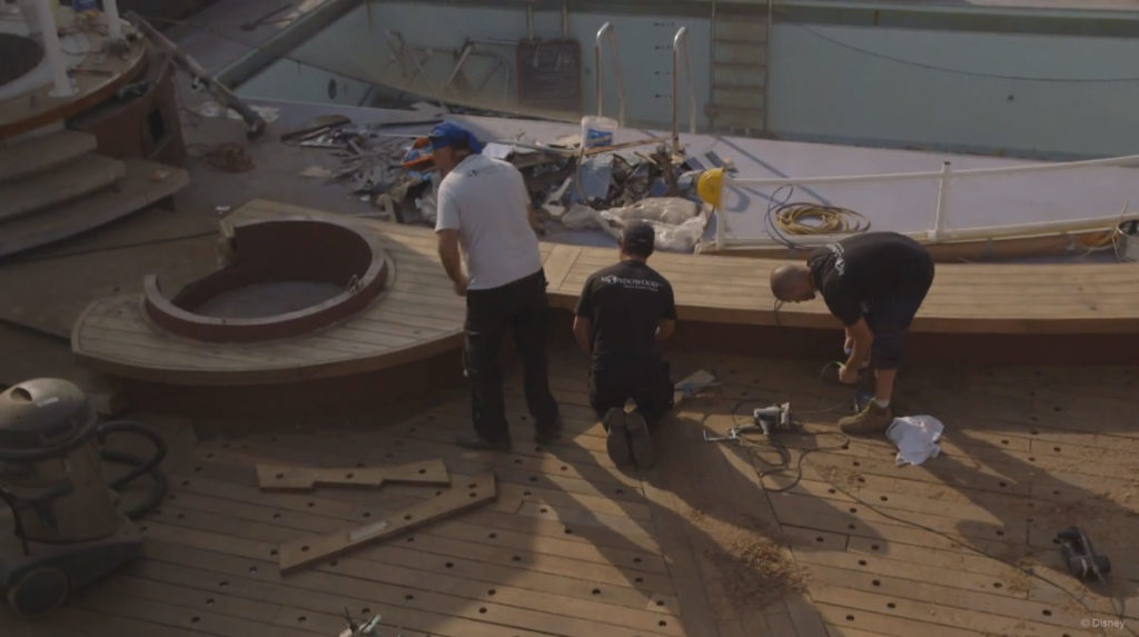 Disney Magic Dry Dock Pool Deck Rehab