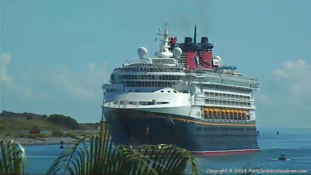 Disney Magic Return To Port Canaveral Jetty Park