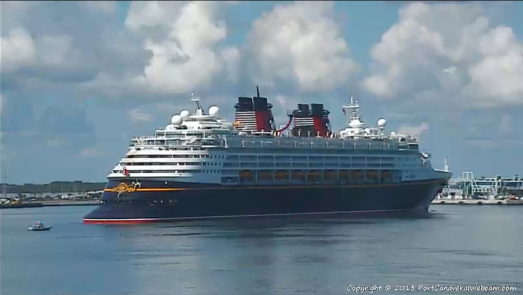Disney Magic Return To Port Canaveral Turning Basin