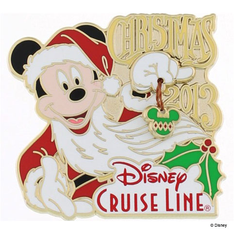 DCL 2013 Santa Mickey Mouse Pin