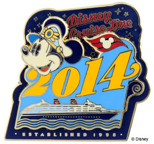 DCL 2014 Captain Mickey Mouse Disney Cruise Line Pin