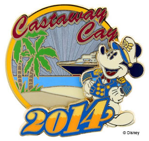 DCL 2014 Castaway Cay Pin