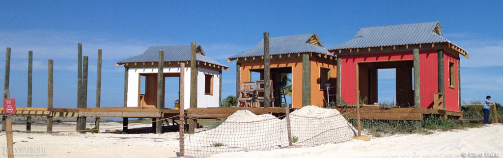 Castaway Family Cabana Construction Close Up December 2013