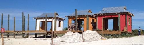 Castaway Family Cabana Construction Close Up December 2013