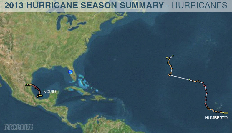 Hurricane Season 2013 Summary Tracks Hurricanes