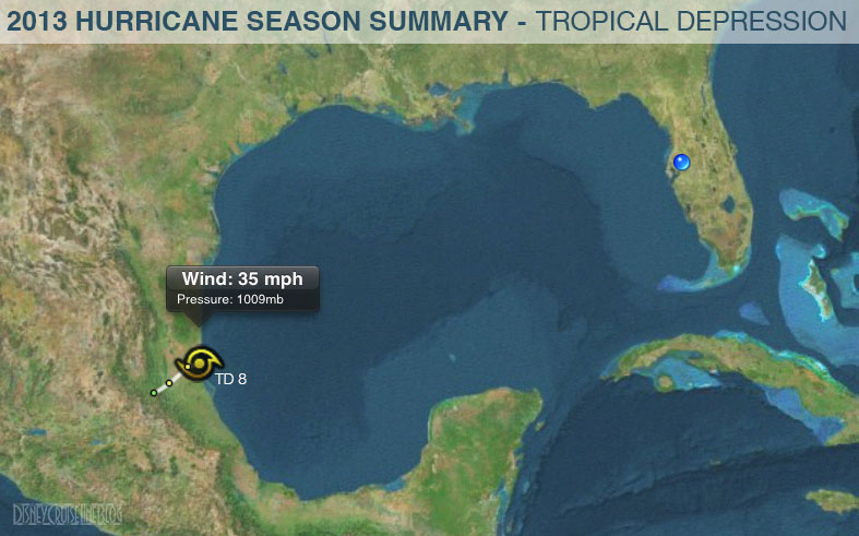 Hurricane Season 2013 Summary Tracks Tropical Depression