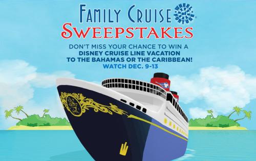 Wheel Of Fortune Family Disney Cruise Sweepstakes Logo