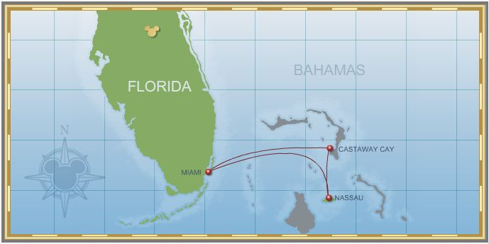 Miami • Nassau • Castaway Cay