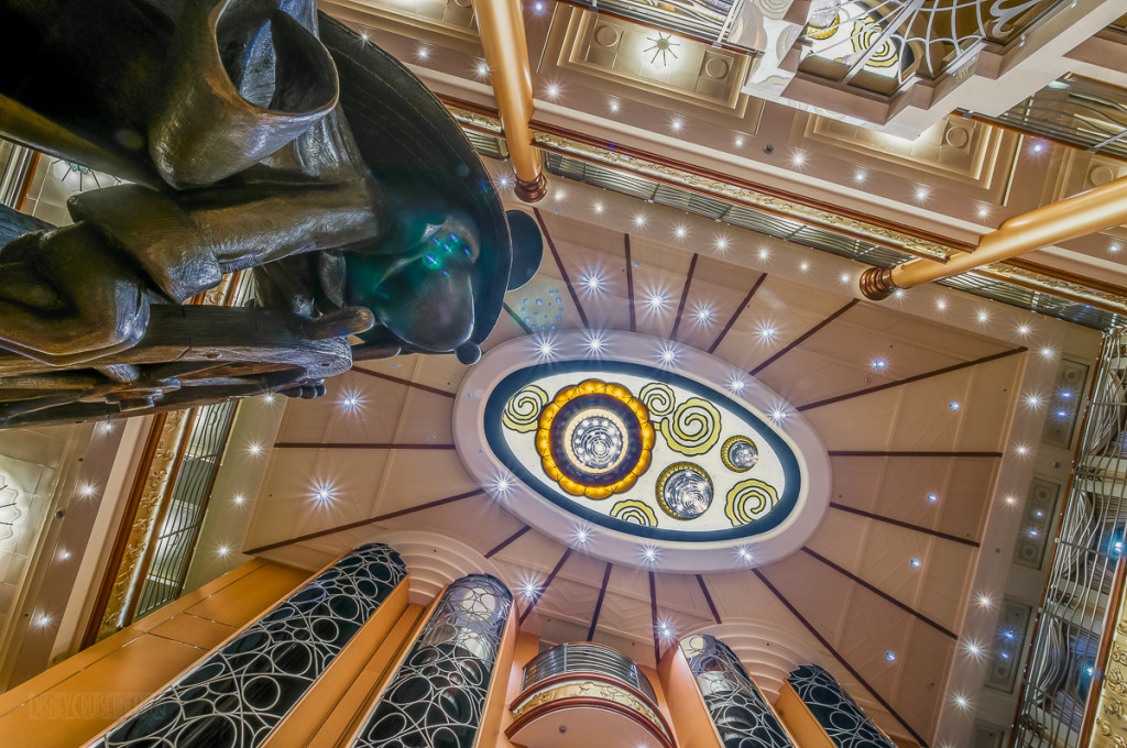 Disney Magic Re Imagined Atrium Looking Up At Mickey