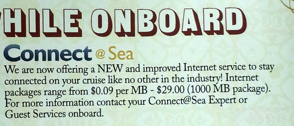 Disney Magic Connect At Sea Internet Personal Navigator Feb 3 2014