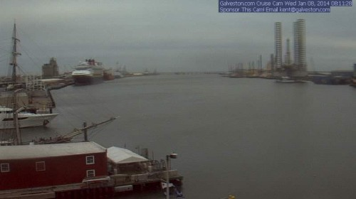Disney Wonder Last Morning In Galveston Webcam