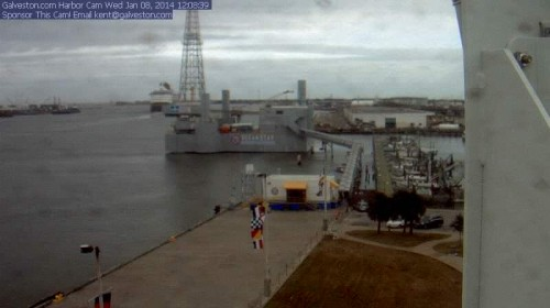 Disney Wonder Leaving Galveston Webcam