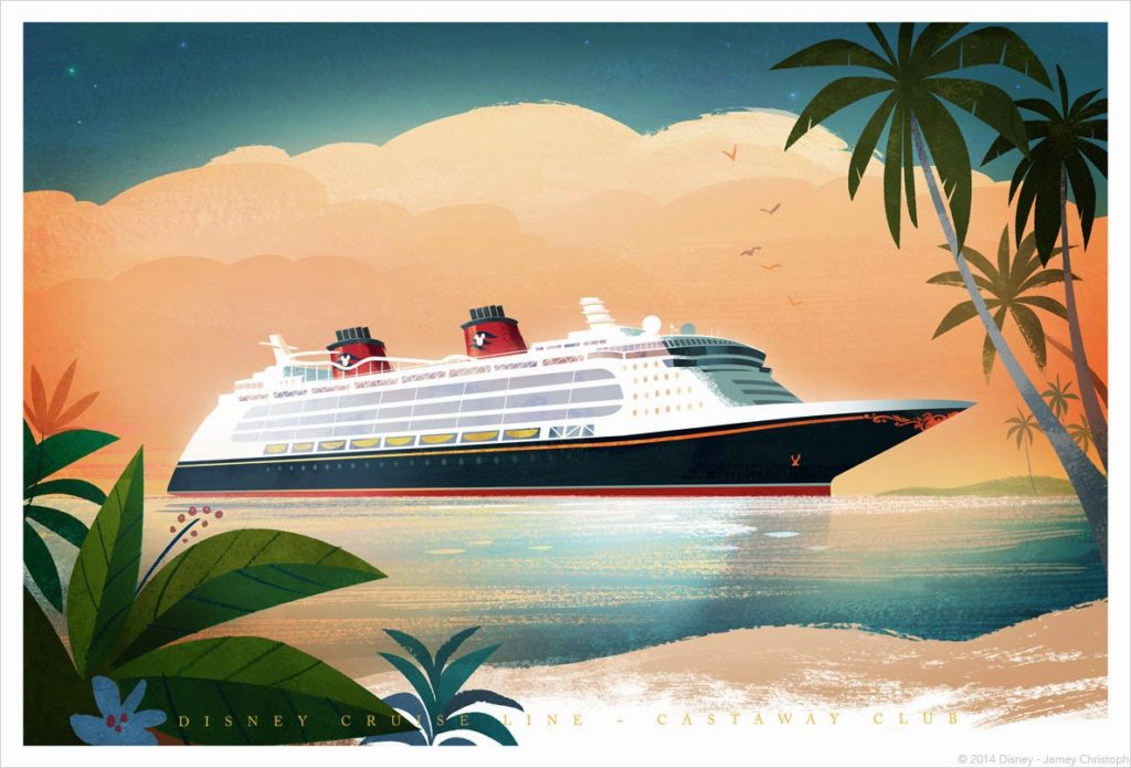 DCL Castaway Club Art Cards 2014 Disney Dream Jamey Christoph