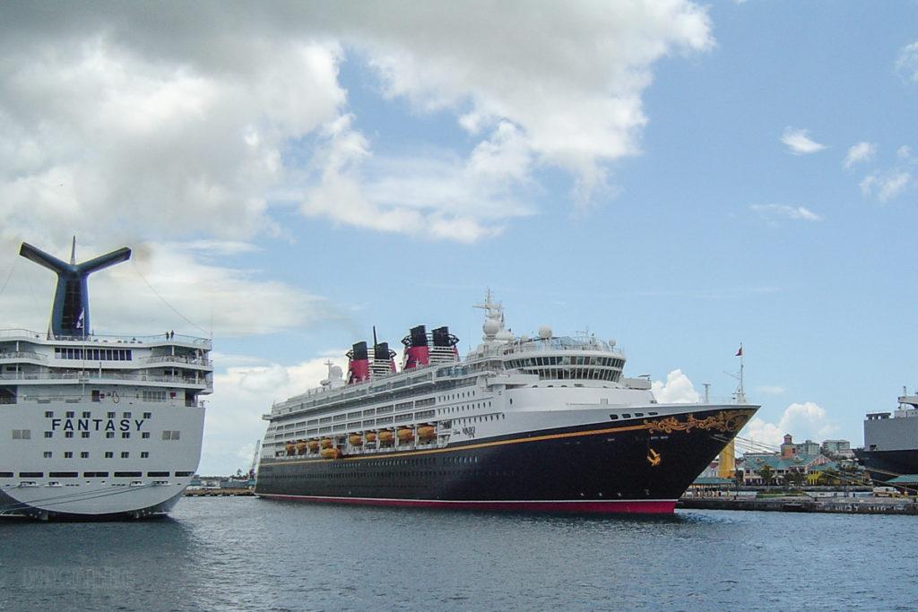 Disney Wonder In Nassau With Carnival Fantasy
