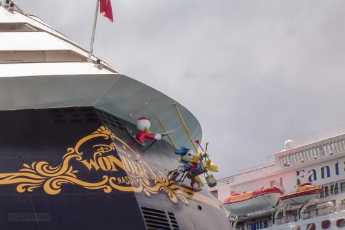 Disney Wonder Aft In Nassau With Carnival Fantasy