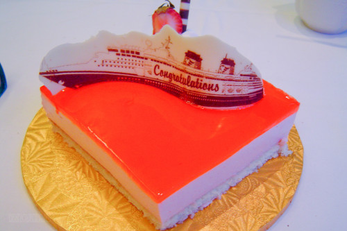 Disney Wonder Honeymoon Cake