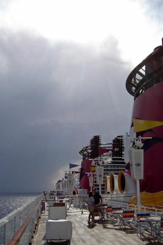 Disney Wonder Leaving Castaway Cay