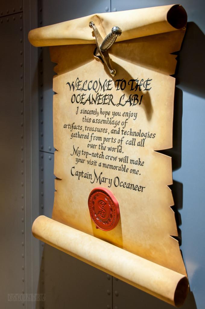 Disney Magic Oceaneer Lab Welcome Letter
